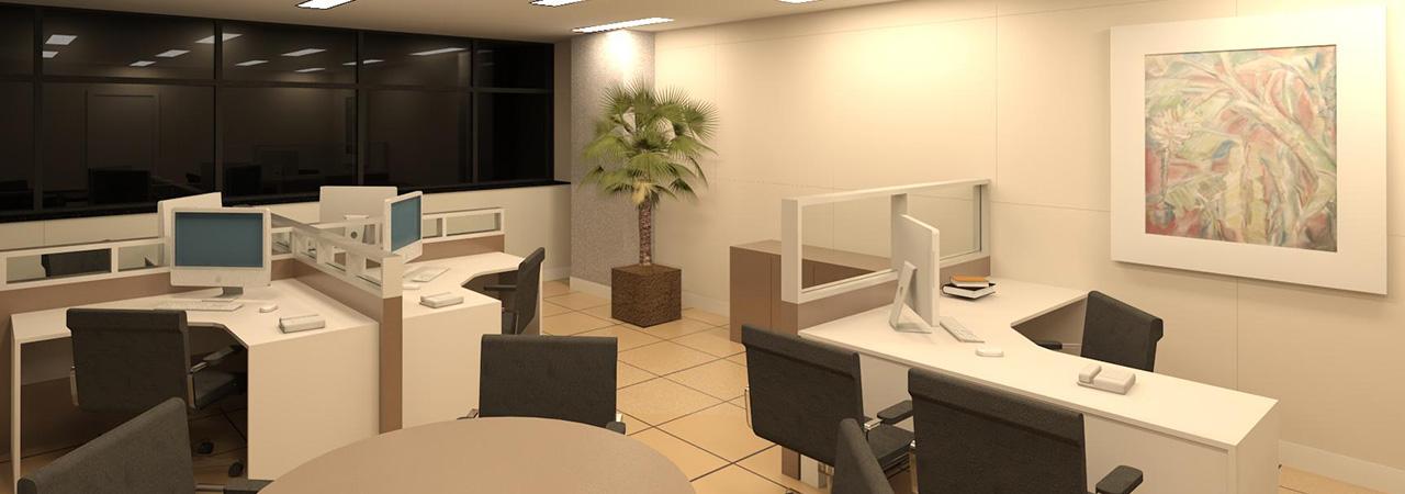 Projetos de espaços corporativos - Banco Central - Curitiba