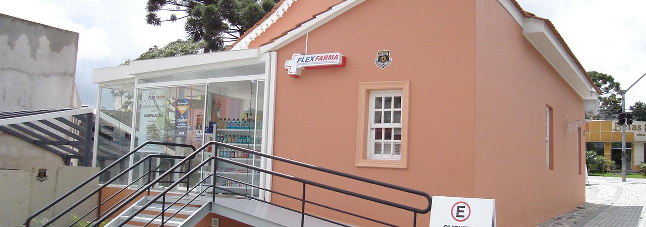 Projeto arquitetônico de Farmácia - varejo - restauro
