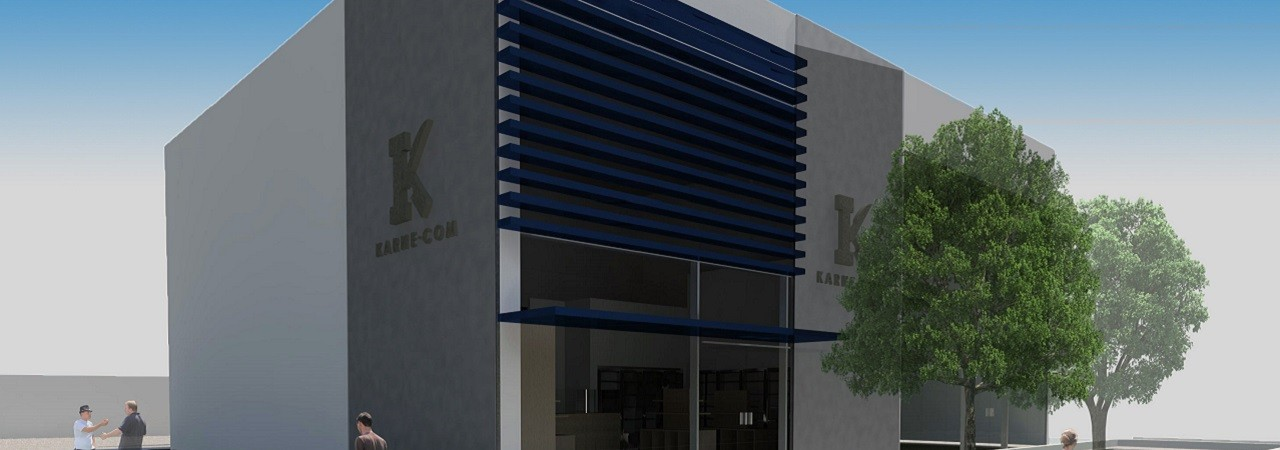 Casa de Carnes - Vista isométrica - fachada